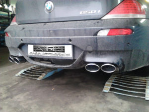 BMW 650i установка насадок Buzer